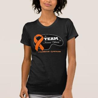 Personalice el nombre del equipo - leucemia camisetas