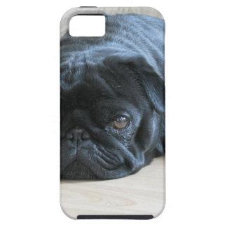 Personalice el nombre negro lindo de los iPhone 5 protector