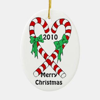 personalice el ornamento de cerámica adorno navideño ovalado de cerámica