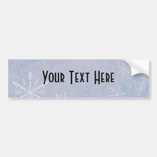PERSONALICE el papel 3 del copo de nieve - azul Pegatina Para Auto