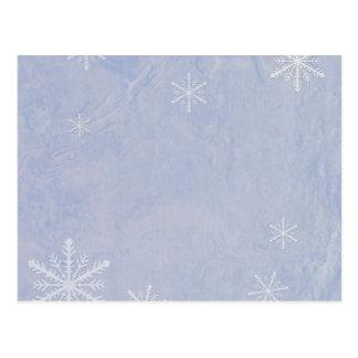 PERSONALICE el papel 3 del copo de nieve - azul Postales