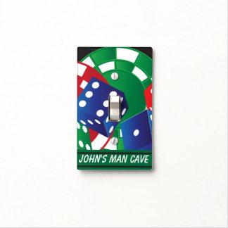 Personalice el póker de la cueva del hombre placa para interruptor