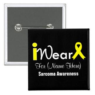 Personalice el sarcoma amarillo de la cinta pin cuadrado