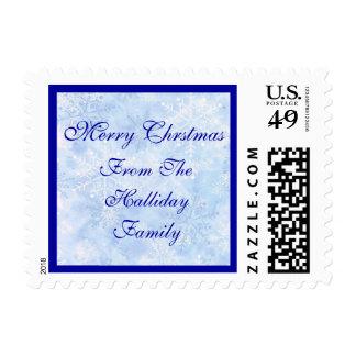 Personalice el sello azul del invierno del navidad