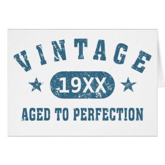 Personalice el vintage envejecido a la perfección  tarjeta de felicitación