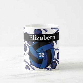 Personalice el voleibol azul marino taza
