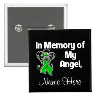 Personalice en memoria de mi cáncer del riñón del pin cuadrado