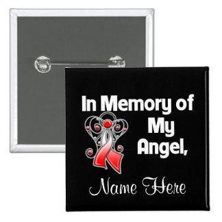 Personalice en memoria de mi cáncer oral del ángel pins