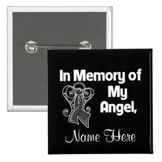 Personalice en memoria de mi melanoma del ángel pins