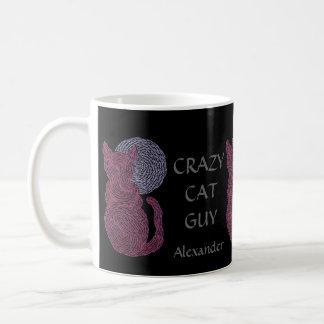 Personalice esta taza loca del amante del gato del