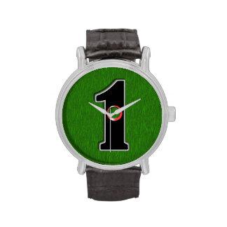 ¡Personalice este agujero afortunado del golfista  Relojes