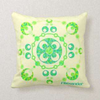 Personalice este arte colorido de la almohada del