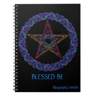Personalice este arte del Pentagram bendecido sea Libros De Apuntes Con Espiral