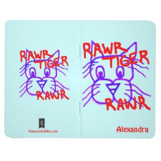 Personalice este cuaderno de Rawr del tigre de Raw