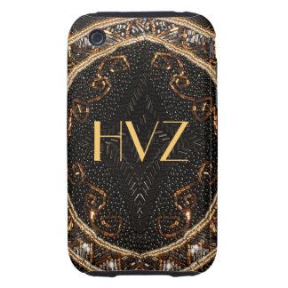 Personalice este diseño goteado vintage del monede tough iPhone 3 coberturas