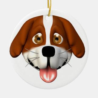 ¡personalice este ornamento! adorno navideño redondo de cerámica