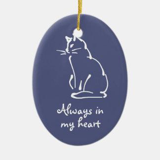 Personalice este ornamento del monumento del gato ornatos