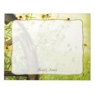 Personalice: Flores del verano - Susans Blocs De Papel