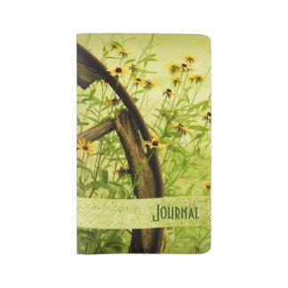 Personalice: Flores del verano - Susans Funda Para Libreta Y Libreta Grande Moleskine