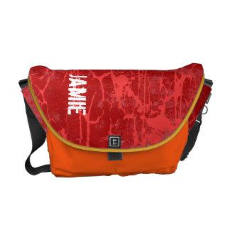 Personalice la bolsa de mensajero agrietada Grunge Bolsas De Mensajería