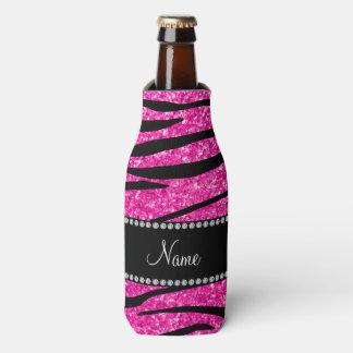 Personalice la cebra de neón conocida del brillo enfriador de botellas