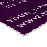 Personalice la elegancia púrpura tarjetas de visita