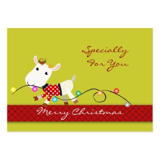 Personalice la etiqueta del regalo de vacaciones d tarjetas de visita