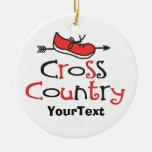 PERSONALICE la flecha divertida del zapato del cor Ornamento Para Arbol De Navidad