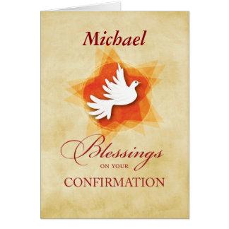 Personalice la paloma de la enhorabuena de la tarjeta de felicitación
