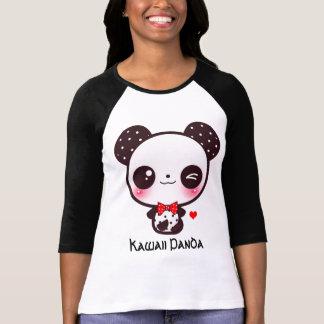 Personalice la panda de Kawaii Playera