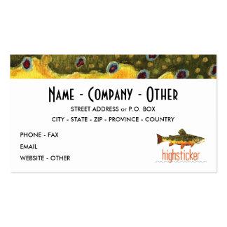 Personalice la pesca de la trucha plantillas de tarjetas de visita