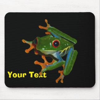 Personalice la rana observada rojo de Costa Rica Tapete De Raton