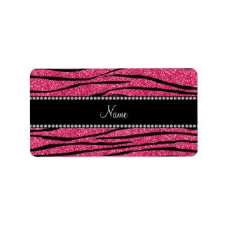 Personalice la raya rosada fucsia conocida de la c etiqueta de dirección
