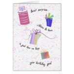 Personalice la tarjeta de cumpleaños dulce de las