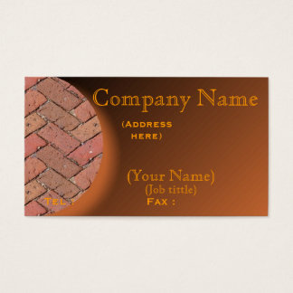 Personalice la tarjeta de visita del ladrillo del