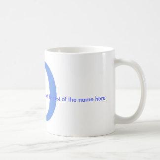 Personalice la taza conocida - D