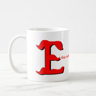 Personalice la taza conocida de E