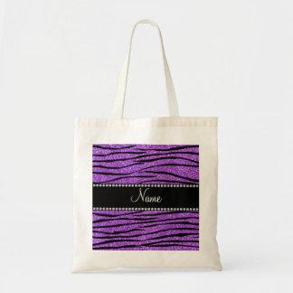 Personalice la tira púrpura en colores pastel cono bolsa