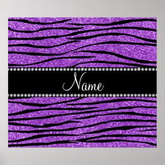 Personalice la tira púrpura en colores pastel cono impresiones