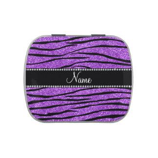 Personalice la tira púrpura en colores pastel jarrones de dulces