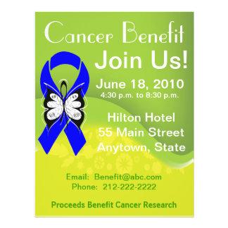 """Personalice la ventaja Fundraising del cáncer de c Folleto 8.5"""" X 11"""""""