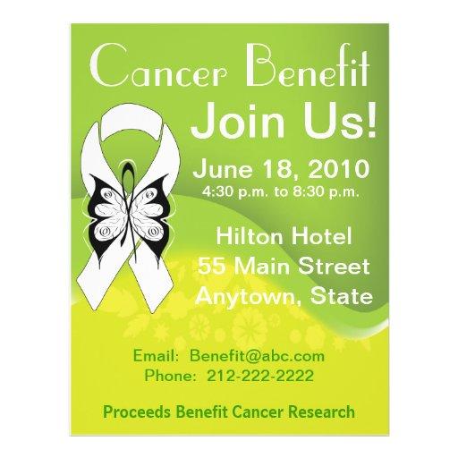 """Personalice la ventaja Fundraising del cáncer de h Folleto 8.5"""" X 11"""""""