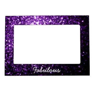Personalice las chispas púrpuras hermosas del marcos magnéticos para fotos