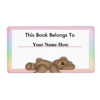 Personalice las etiquetas del libro para los niños etiqueta de envío