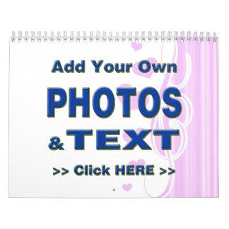 personalice las fotos que el texto añade imágenes  calendario