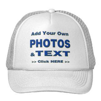 personalice las fotos que el texto añade imágenes gorro de camionero