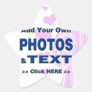 personalice las fotos que el texto añade imágenes colcomanias forma de estrellaes