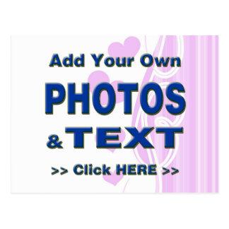 personalice las fotos que el texto añade imágenes postal