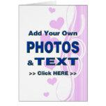 personalice las fotos que el texto añade imágenes  tarjetas