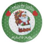 Personalice las galletas del navidad para el nombr platos de comidas